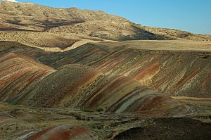 Stripes of clay, Udabno, Georgia.jpg