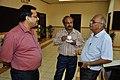 Subhabrata Chaudhuri - Manash Bagchi - Shaik Jeelani Saheb - Tea Break Discussion - VMPME Workshop - Science City - Kolkata 2015-07-16 9196.JPG