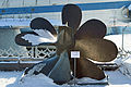 Submarine propeller (ВФ 671-10-20) in B-396 Museum Front 10-feb-2015.jpg