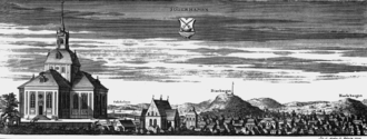 Söderhamn - Söderhamn circa 1700, from Suecia Antiqua et Hodierna.