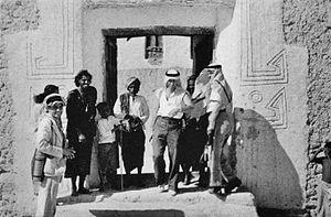 Mahra Sultanate - The Sultan of Qishn (in a turban), late 1930s