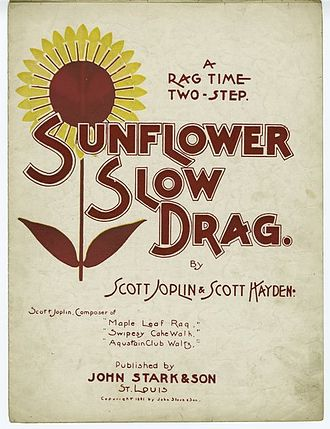 Sunflower Slow Drag - Image: Sunflower Slow Drag Joplin Cover