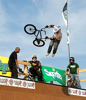 Vert (sport) - BMX vert jump