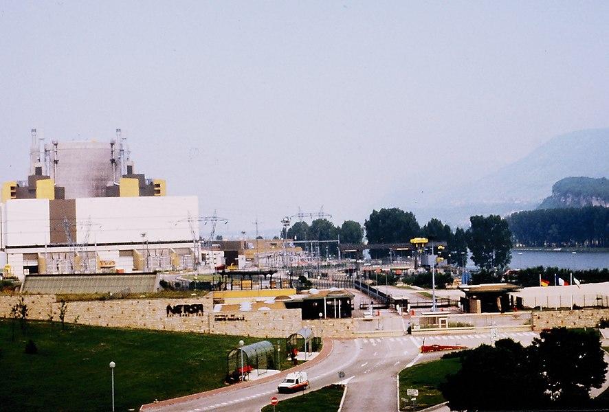 Superphenix nuclear power plant, Isère, France.