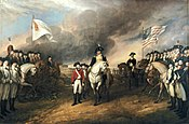 """Surrender of Lord Cornwallis"" by John Trumbull"