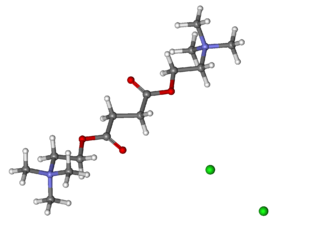 Suxamethonium chloride - Image: Suxamethonium chloride ball and stick