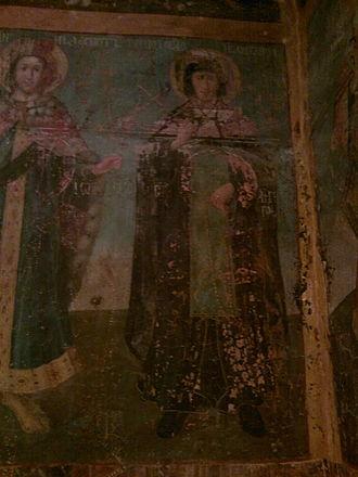 Angelina of Serbia - Fresco in Krušedol depicting Angelina