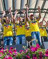 Sweden national under-21 football team celebrates in June 2015-11.jpg