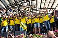 Sweden national under-21 football team celebrates in Kungsträdgården 2015-6.jpg