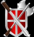 Sword, battleaxe & shield.png