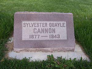 Sylvester Q. Cannon - Grave marker