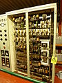 Synchronising control rack, Bristol-Siddeley Proteus power station.jpg