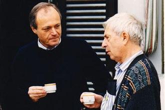 Péter Medgyessy - Medgyessy and Péter Bacsó in 1994, Balatonszárszó