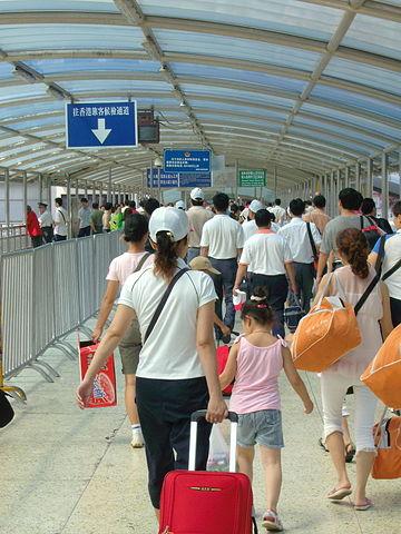 Hong Kong border crossing checkpoint