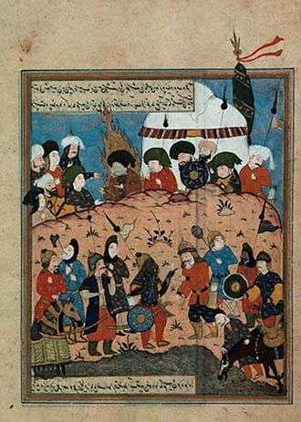 Battle of Karbala - Before the battle near Karbala. Ottoman miniature