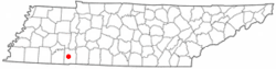 Location of Savannah, Tennessee