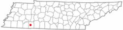 Location of Savannah, Tennessee