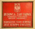 Tablica BOS Budowla zabytkowa CIZ 05.JPG