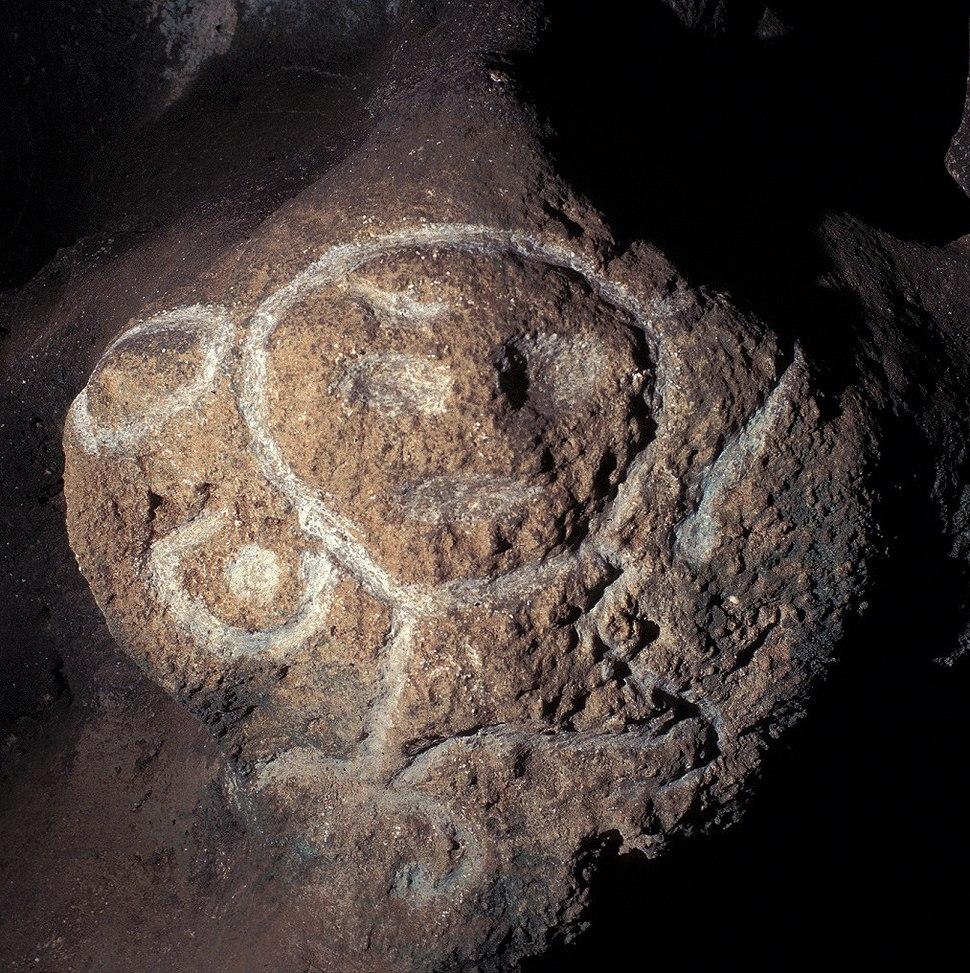 Taino petroglyph in cave
