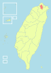 Location of Taipei City in Taiwan