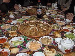 Tajik dastarkhan meal.jpg