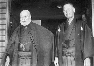 Tanaka Giichi - Prime Ministers Korekiyo Takahashi (1854–1936, in office 1921–22, left) and Giichi Tanaka (1864–1929, in office 1927–29)