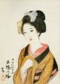 TakehisaYumeji-1921-Ten Themes of Woman Girl in Kiba.png