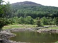 Taliesin new pond with Screel hill in the background - geograph.org.uk - 1468694.jpg