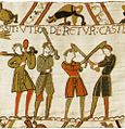 Tapestry by unknown weaver - The Bayeux Tapestry (detail) - WGA24171.jpg