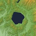 Tazawako Caldera Relief Map, SRTM-1.jpg