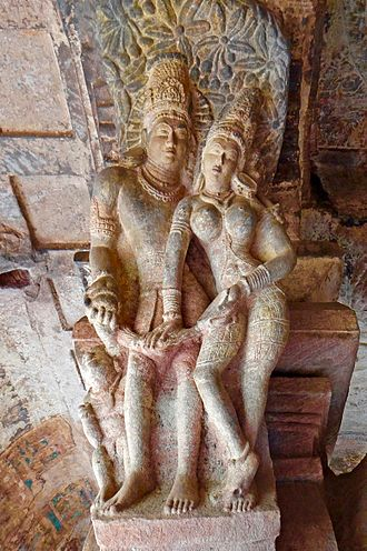 Murti - 6th-century murti carvings, Badami caves, Karnataka.