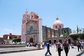 Tequisquiapan - Iglesia Santa María de la Asunción at the Main Plaza of Tequisquiapan