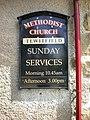 Tewitfield Methodist Church, Sign - geograph.org.uk - 1300631.jpg