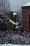 Texel - Zuid-Eierland - Postweg - View SE on Easter Island Statue 1993 by Bene Aukara Tuki Pate.jpg