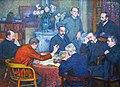 Théo van Rysselberghe (1862-1926) De lezing door Emile Verhaeren (1903) - MSK Gent 20-8-2016 16-00-036.JPG