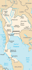 Mapa Tajlandii