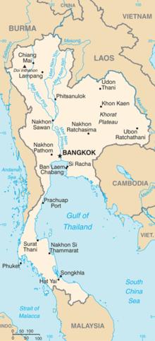 Mapa  Reino de Tailandia