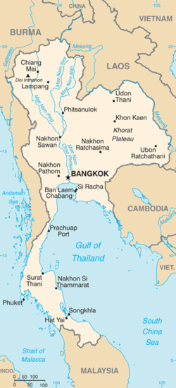 Thailand Topographic Map.Geography Of Thailand Wikipedia