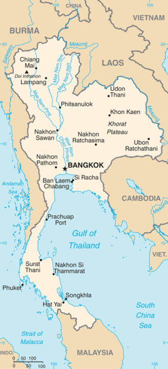 Thailand map CIA