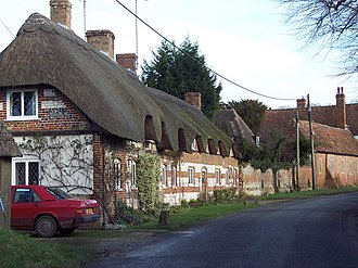 Amesbury - Image: Thatched Cottages at West Amesbury geograph.org.uk 311650
