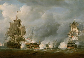 The 'Defence' at the Battle of the First of June, 1794.jpg