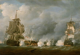 HMS Defence (1763) - Image: The 'Defence' at the Battle of the First of June, 1794