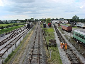 Buckinghamshire Railway Centre - Image: The 2 halves of Buckinghamshire Railway Centre geograph.org.uk 934865