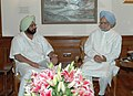 The Chief Minister of Punjab, Capt. Amarinder Singh calls on the Prime Minister, Dr. Manmohan Singh, in New Delhi on June 22, 2006.jpg