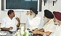 The Chief Minister of Punjab, Shri Prakash Singh Badal meeting with the Union Minister for Shipping, Road Transport and Highways, Shri T. R. Baalu, in New Delhi on June 22, 2007.jpg