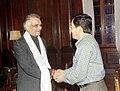 The Chief Minister of Sikkim Shri Pawan Kumar Chamling meets the Union Minister for Home Affairs Shri Shivraj Patil in New Delhi on June 24, 2004.jpg