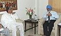 The Chief Minister of Tripura, Shri Manik Sarkar meeting the Deputy Chairman, Planning Commission, Shri Montek Singh Ahluwalia, for finalizing plan 2012-13 for the State, in New Delhi on March 29, 2012.jpg