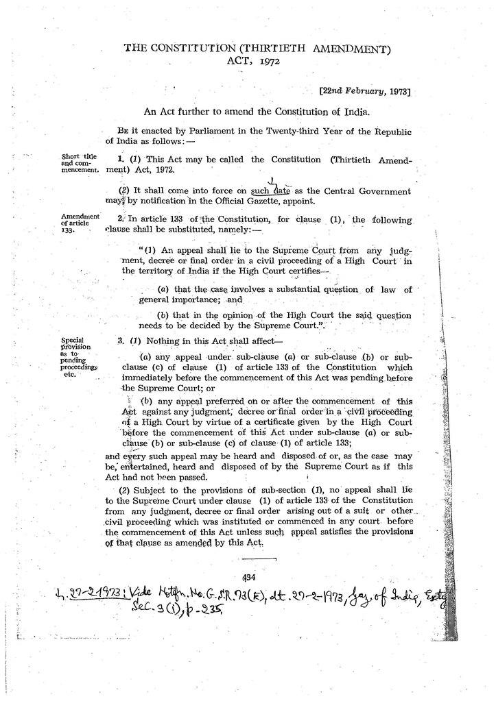 Amendment under the constitution of india