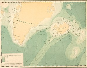 Carl Frederick Wandel - Map of the Danish Ingolf Expedition led by Wandel.