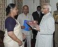 The Governor of Uttarakhand, Smt. Margaret Alva meeting the Vice President, Shri Mohd. Hamid Ansari at Almora, in Uttarakhand on March 26, 2011.jpg